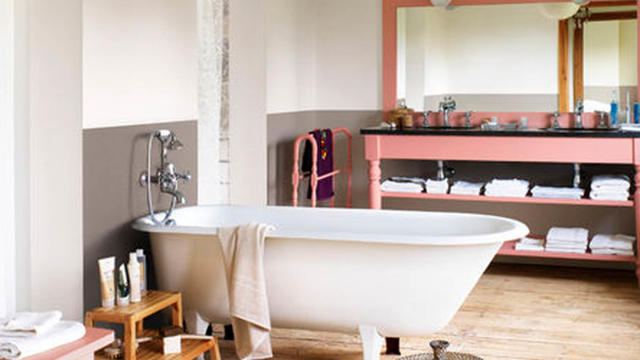 Bathroom colour - think pink