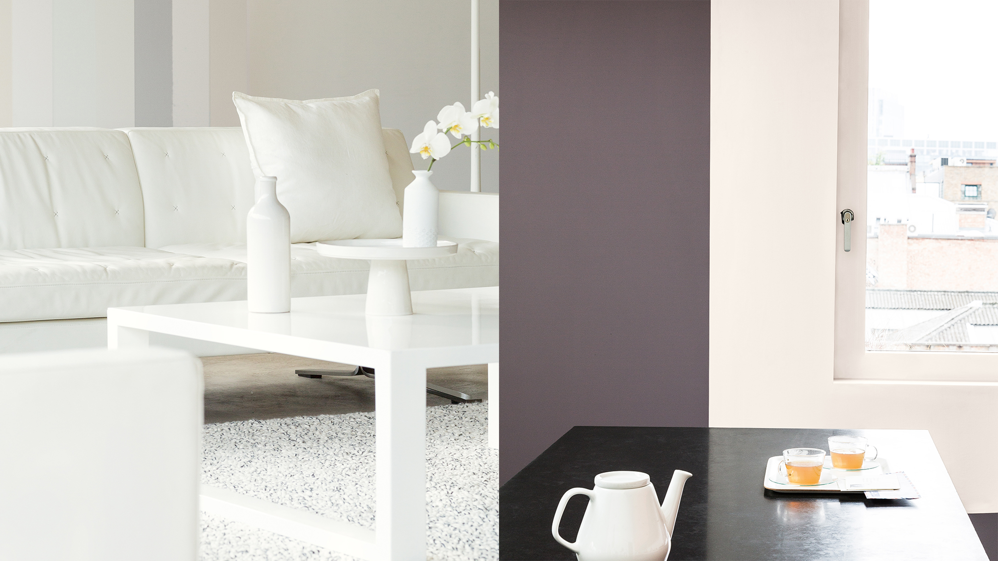 Paint architraves, skirting boards and any other mouldings in light, reflective paint colours, perhaps in a subtly contrasting tone to the colour on the walls.