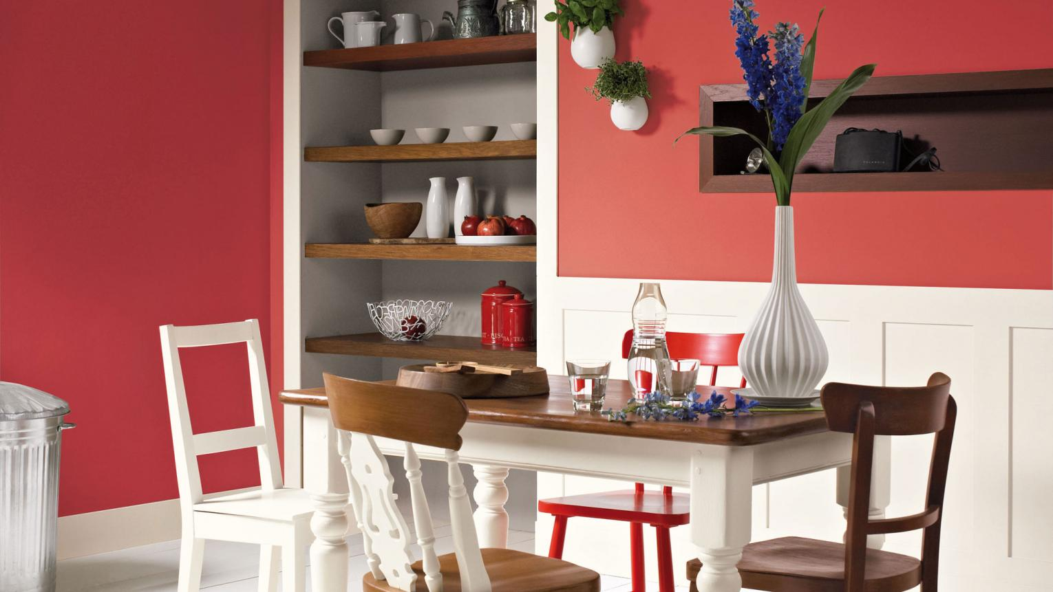 Add drama to your home with a show-stopping red wall.