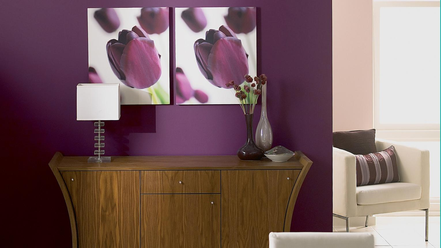 Give a traditional setting a modern lift with fruity shades.