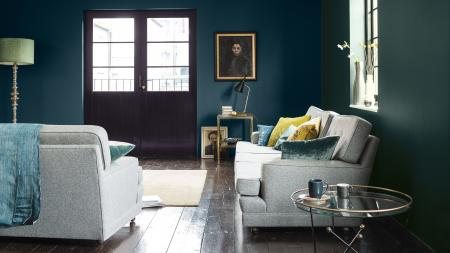 Choosing paint colours from the darker end of the spectrum is a quick and easy way to add personality to your new home, creating a sophisticated feel minus the designer price tag.